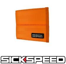 SICKSPEED WALLET SEAT BELT SEATBELT PAD RACING HARNESS BIFOLD BILLFOLD ORANGE P4