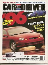 Car & Driver Oct 1995 - Ford Taurus SHO - Corvette GS - Ford Explorer - Civics