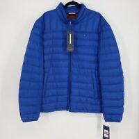 Tommy Hilfiger Men's Size XXL Coat Packable Down Puffer Blue Full Zip Jacket NWT