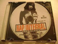 Rap Integral - Au plus profond du rap - CD Rap Francais / Disque Seulement