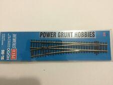 PECO SL-96 MEDIUM RADIUS LEFT HAND TURNOUT  HO/OO (Power Grunt Hobbies)
