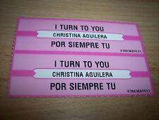 "2 Christina Aguilera I Turn On You Jukebox Title Strip CD 7"" 45RPM Records"
