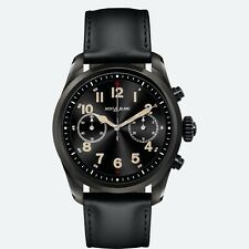 Montblanc Summit 2 Smart Watch Black Leather Strap 42mm Black Stainless Steel