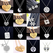 Hot 2PC Best Friend Crystal Animal Necklace Pendant Jewelry Friendship BFF Gift