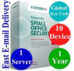 Kaspersky Small Office Security V8 1 Server/10 Dev+10 Mobil/1 Year Global Code