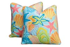Clarence House & Hamilton's Spanish Seaside Feather/Down Pillows - a Pair