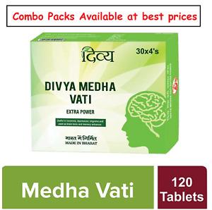 Patanjali Divya Medha Vati Extra Power  120 Tablets ( 30X4)