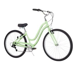 """Huffy' 27.5"""" Parkside Womens 7-Speed Comfort Bike with Perfect Fit Frame, Mint"""