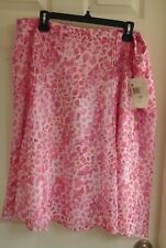 Jaclyn Smith, women's size XL skirt, pink leopard print stretch,  NWT $25