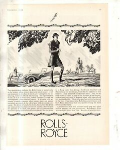 1926 Rolls Royce Roadster Original ad - Fox Hunt from Town & Country