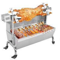 Hog Roast Machine BBQ Spit Stainless Steel Electric Motor Windproof board 120cm