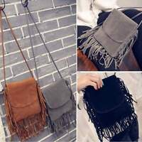 Women Leather Tassel Shoulder Bag Messenger Satchel Handbag Crossbody Tote 35DI