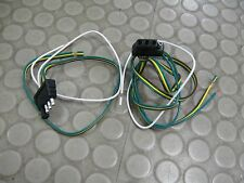 Wesbar Trailer Light Wiring System 4-Way Flat Connector Plug Kit Pigtails 707270