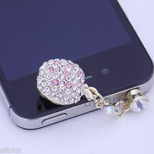 ANTI DUST PLUG CHARM DIAMOND PEACH FOR APPLE SAMSUNG HTC MOTOROLA HUAWEI ZTE