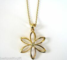 NEW GUESS GOLD TONE FLOWER+CRYSTAL RHINESTONE ADJUSTABLE NECKLACE