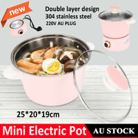 Double Layer Electric Hot Pot Cooking Fry Pot Cooker for Soup Porridge Steamed