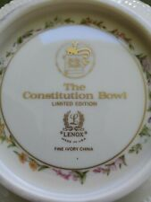 Lenox The Constitution Bowl Limited Edition.