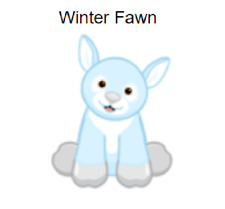 Webkinz Classic Winter Fawn *Code Only* (~retired~)