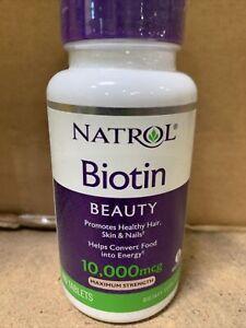 Natrol Biotin 10,000 mcg Maximum Strength Tablet - 100 Count Exp 06/22