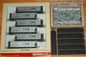 WALTHERS 932-7803 RD4 COAL HOPPER CHICAGO & NORTH WESTERN CNW WITH JAEGER LOADS