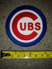 """Chicago Cubs embroidered, 3"""" by 3""""  iron on patch, MLB, Baseball, new"""