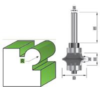 HW- HM Hohlkehlfräser Z=2 Schaft 8 mm alle Größen MAN Vorschub geeignet SK1040