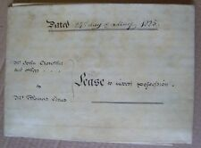 George IV old deed John Crowther of Claverley Salop 1824 William Perry