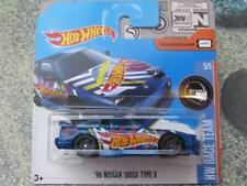 Hot Wheels 2017 # 225/365 1996 NISSAN 180sx Tipo X Azul HW Carrera Equipo
