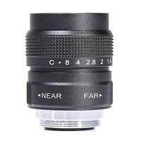 Black 25mm f/1.4 C Mount CCTV TV Lens body black for EOS M Micro 4/3 FX N1 NEX