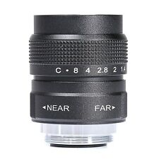 Black 25mm f/1.4 C Mount CCTV TV Lens body black for EOS M Micro 4/3 FX N1 NEX