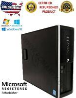 Refurbished HP 8200 SFF Desktop Core i5 3.1Ghz 16GB RAM 500 HDD Windows 10 Pro