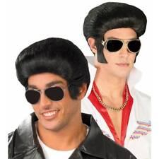 Années 1950 Noir Rock N Roll Perruque Elvis Années 50 Pop Célébrité