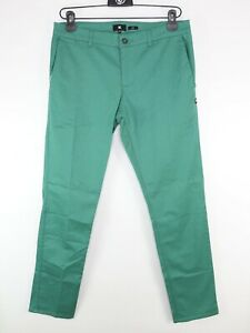 DC Shoes Chino Trousers Slim Fit Bottle Green Size W32 L30