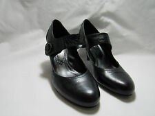 El Dantes Black Leather Pump Handmade Size 6US 11412