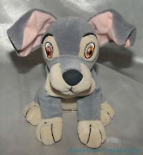 1990s Disney Store Plush Beanie Lady & The Tramp Soft Gray Puppy Dog w/Sewn Eyes