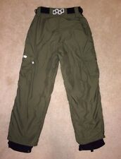 FOURSQUARE SNOWBOARD SKI PANTS OLIVE GREEN CARGO XS
