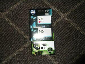 HP 910 YELLOW  MAGENTA AND BLACK