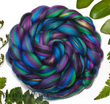 Harlequin - Merino Mulberry Silk Blend Combed Top Wool Roving 4 oz