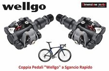 0451 - Coppia Pedali Wellgo Alluminio Sgancio Rapido per Bici 26-28 Single Speed