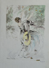 LOUIS ICART (1888-1950) GRAVURE EN COULEURS, ORIGINALE DE 1930 .....BB