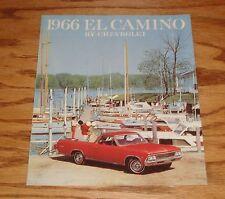 1966 Chevrolet El Camino Foldout Sales Brochure 66 Chevy