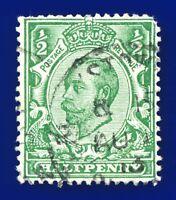 1912 SG344 ½d Green (Die-2, wmk SC) N5(1) Fair Used axkl