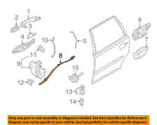 VOLVO OEM 03-14 XC90 Front Door-Lock Cable 31253059