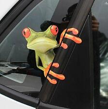 1xCute Green Stick 3D Frog Car stickers Truck Window Vinyl Decal Sticker Emblem