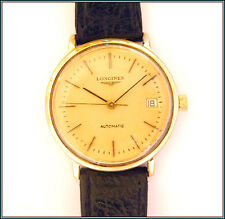 LONGINES AUTOMATIC CALENDAR - CALIBER 633 - Yellow Gold Plate Men's Watch 34mm