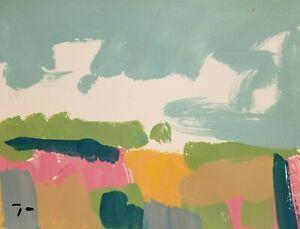 "JOSE TRUJILLO - NEW LANDSCAPE ORIGINAL MODERN ACRYLIC on Paper PAINTING - 9x12"""
