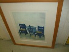 21ST CENTURY BLUE TABLE LIMITED EDITION MEDIUM SILKSCREEN PRINT BY ROBEN COLLEY