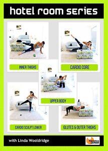 PILATES MAT WORKOUT DVD Barlates Body Blitz HOTEL ROOM SERIES - 5 Workouts