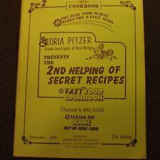Gloria Pitzer Helping of Secrets Recipes/Fast Food Cook Book/ Book 2 Dec 1979