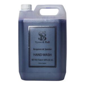 Luxury Hand Wash Bergamot & Jasmine Fragrance By Syson & Ball - 5 Litre Bottle